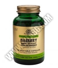 SOLGAR Bilberry Berry Extract with Blueberry, S.F.P. 60 Caps.