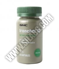 GNC Ironchel 18 mg. / 90 Caps.