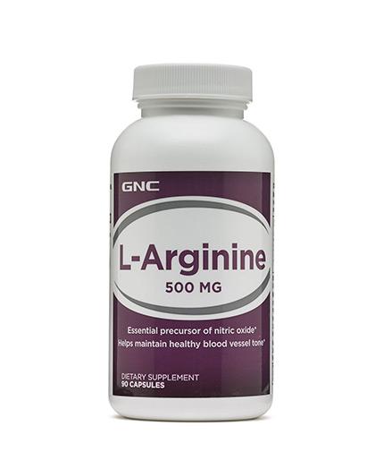 GNC L-Arginine 500 mg. / 90 Caps.