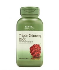 GNC Herbal Plus Triple Ginseng Root / 90 Caps.