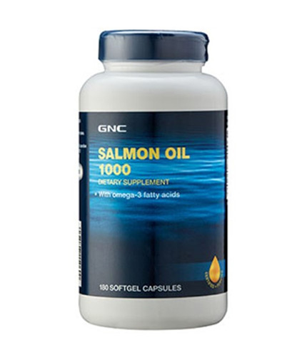 GNC Salmon Oil 1000 mg. / 180 Caps.