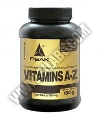 PEAK Vitamins (A-Z) 240 Tabs.